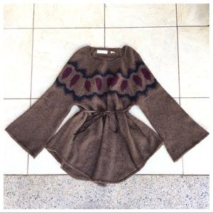 Sleeping on Snow Mohair/Wool Belted Bell Sleeve XS